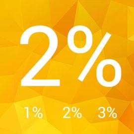 2% pre slané deti v roku 2016