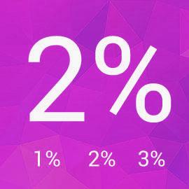 2% pre slané deti v roku 2017